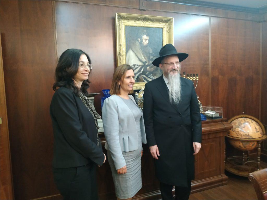 Главный раввин России встретился с израильским министром Гилой Гамлиэль