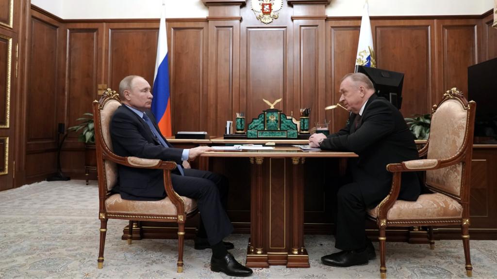 Владимир Путин провел встречу с главой Торгово-промышленной палаты России Сергеем Катыриным